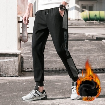 Cotton New Sweatpants Mens streetwear Pants Fashion Pencil linen Men Full Length Drawstring Trousers For Casual