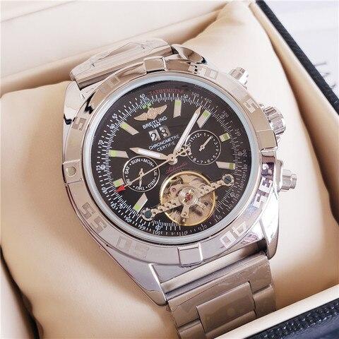 Marca de Luxo Relógio de Pulso Mecânico dos Homens Quartzo com Pulseira Breitling Relógios Inoxidável Relojes Hombre Automático 2020 Aço Mod. 115182