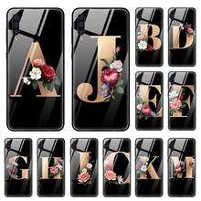 Фото - First letter A B J K Case for Samsung Galaxy A50 A70 A40 A30 s A10 A20s A51 A71 J4 J6 Plus M30s Tempered Glass Phone Coque Sac alexander l g k s first case