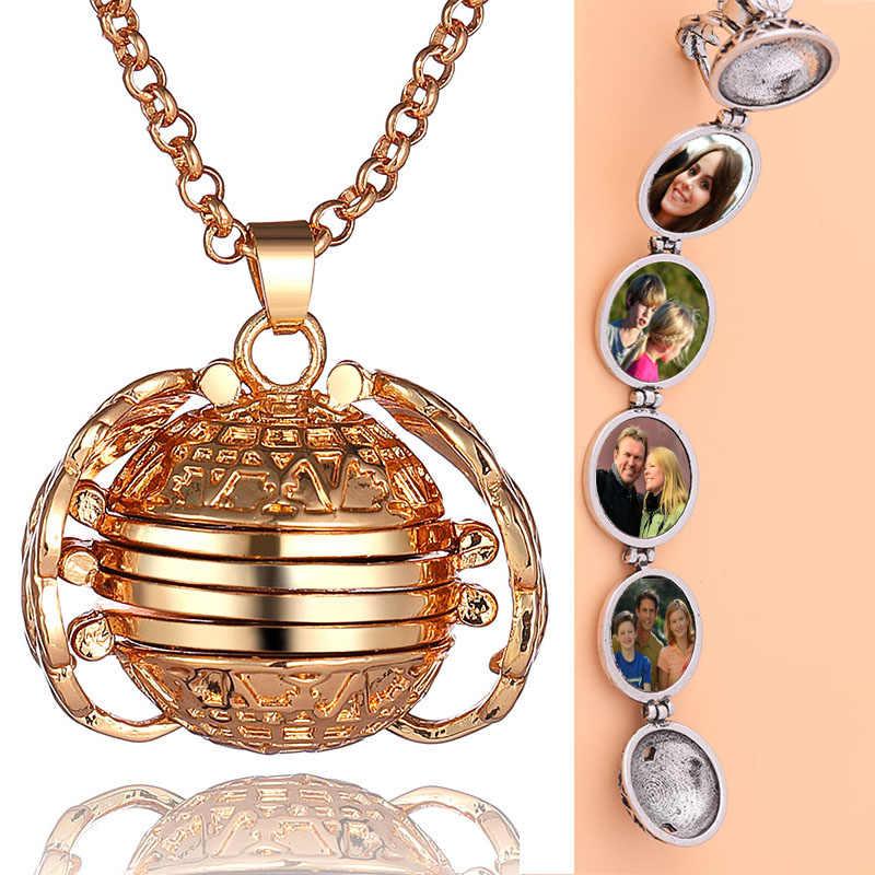 Nowa gorąca duża promocja pamięć fotograficzna wisiorek Vintage Angel Wings naszyjnik modne akcesoria damskie romantyczny prezent biżuteria