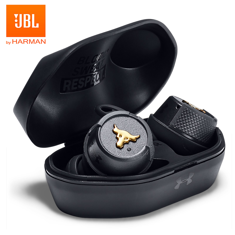 Image 3 - JBL UA FLASH PROJECT ROCK Ture Wireless Earphone Bluetooth Sport Earbuds Waterproof Headphone Handsfree Call with Mic Charge BoxPhone Earphones & Headphones   -