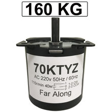 High Torque 160KG 40W AC 220V Permanent Magnet Synchronous Motor 220V 70KTYZ CW/CCW Metal Geared Slow Speed Motor 2.5 To 110RPM