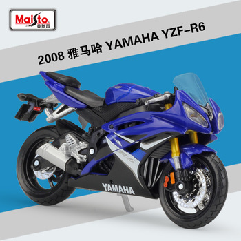 Maisto NEW 1:18 YAMAHA YZF-R6 Alloy Diecast Motorcycle Model Workable Shork-Absorber Toy For Children Gifts Toy Collection maisto new 1 10ducati desmosedici alloy diecast motorcycle model workable shork absorber toy for children gifts toy collection
