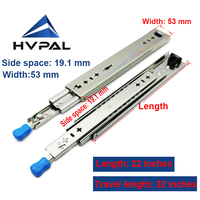 HVPAL 550 mm 22 inches full extension 115 kg ball bearing heavy duty lock drawer slides channels for caravan camping car