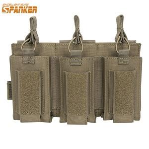 EXCELLENT ELITE SPANKER Tactical Molle Triple Magazine Pouches Military Clip Bag AK M4 Pistol Paintball Game Accessories(China)