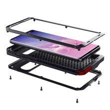 Роскошный бронированный металлический 360 Защитный чехол для Samsung Galaxy Note 20 Ultra 10 9 8 S20 Ultra S8 S9 S10 Plus S10e S7 противоударный чехол