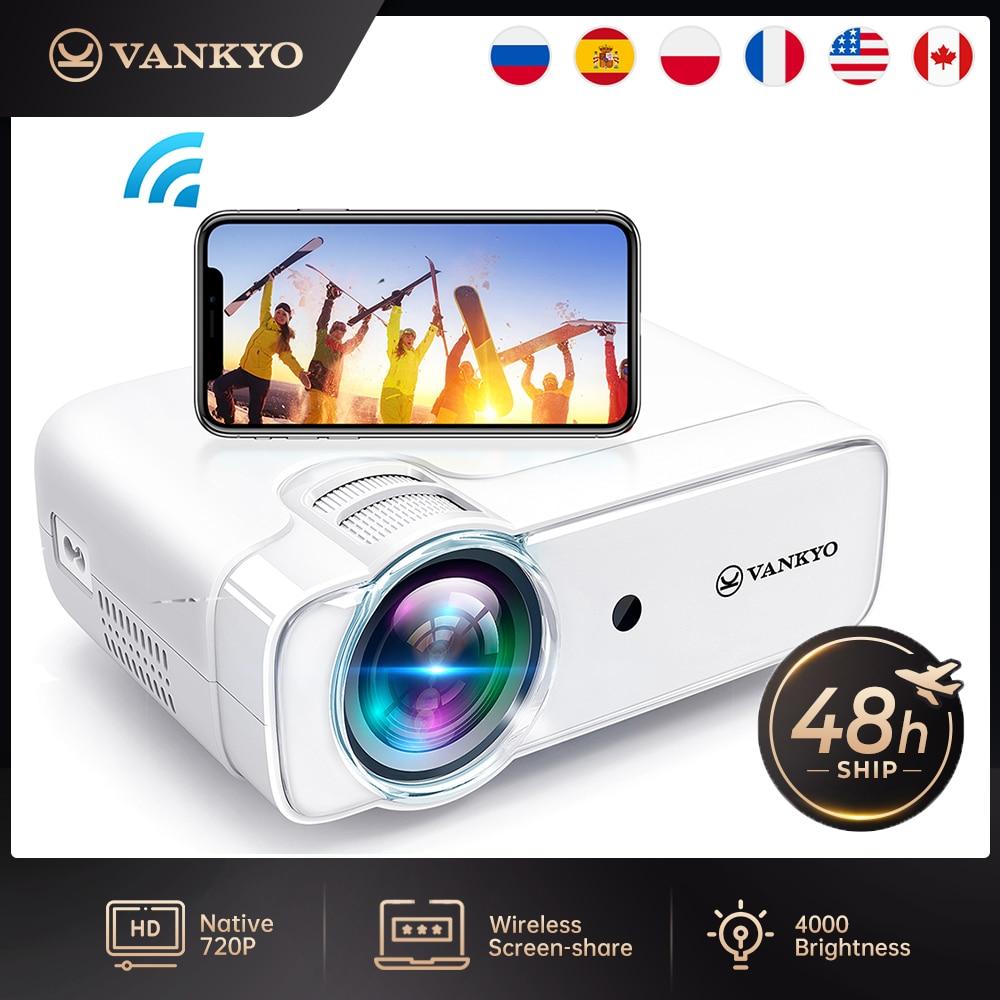 Мини Wi-Fi-проектор VANKYO D30W, Full HD 1080P, поддерживаемый проектор с синхронизацией экрана смартфона, портативный проектор