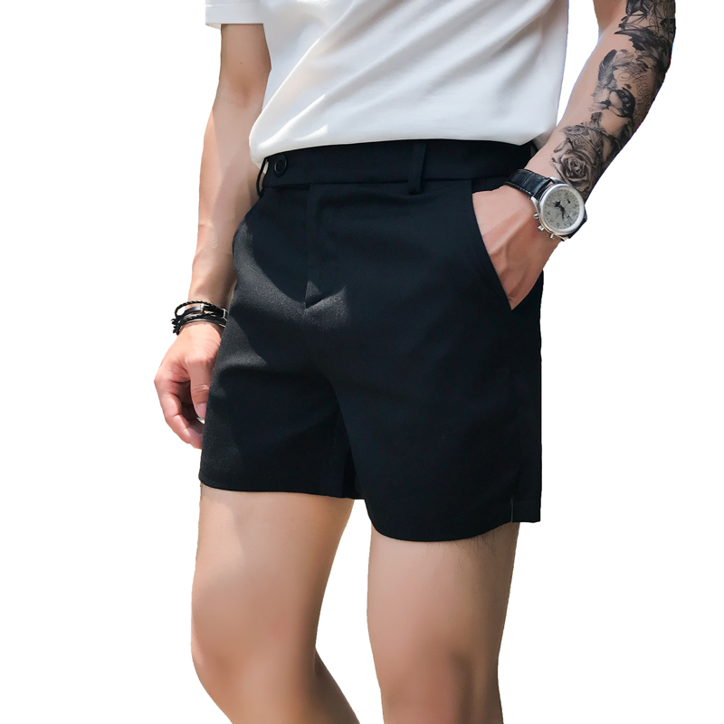 2020 Summer Casual Solid Men's Shorts Mens Beach Shorts Cotton Slim Fit Male Shorts Homm Brand Clothing Short Masculino 3XL-M