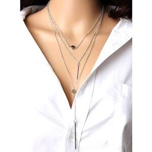 1 шт., специальный дизайн, золотой цвет, многослойная подвеска в горошек и ожерелья, женские модные свадебные вечерние ювелирные изделия