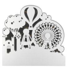 Ferris Wheel Hot Air Balloon Metal Cutting Dies Stencil DIY Scrapbooking Album Stamp Paper Card Embossing Craft Decor