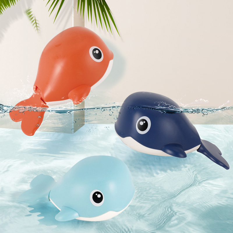 Baby Toys Kids Multi-type Wind Up Whale Chain Bathing Shower Clockwork Water Baby Toys For Children Babycare Supplies