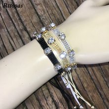 Rttooas Charm Cuff Bracelet for Women Handmade MIYUKI Bead CZ Adjustable Fashion Jewelry Accessories