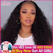 1 2 5 sztuk sprzedaż hurtowa Water Wave ludzki włos peruka z pałąkiem na głowę peruka brazylijski włosy naturalny kolor maszyna wykonana peruka dla kobiet Jarin włosów