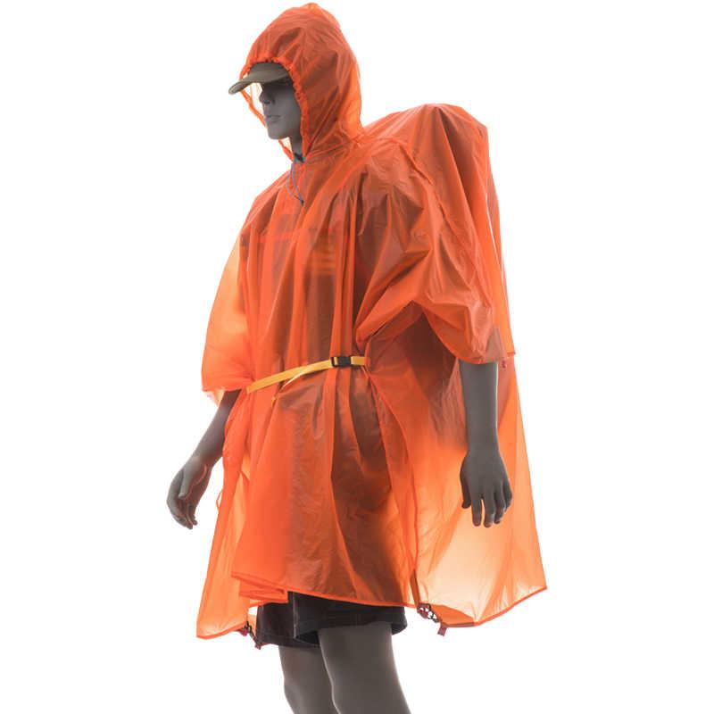 3f ul engrenagem 3-em-1 chuva poncho jaqueta impermeável capa de chuva tenda sun abrigo pegada folha de terra lona para acampamento caminhadas toldo
