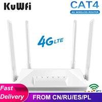 Router 4G LTE sbloccato CAT4 Wireless CPE Router Hotspot Mobile Modem porta LAN RJ45 con Slot per schede SIM 150Mbps 4 Antenna esterna