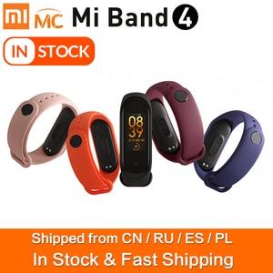 Image 1 - 85% 새로운 Xiaomi Mi Band 4 스마트 팔찌 3 색 AMOLED 스크린 심박수 피트니스 블루투스 5.0 스포츠 50ATM 방수 SmartBand