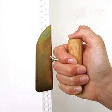 Drewniana rączka szpachla skrobaczka do płyt gipsowo-kartonowych łopata narożna Yin Yang ściągacz do błoto okrzemkowe narzędzie budowlane do domu