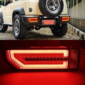 Image 5 - Csgjmy 2Pcs Led Reflector Achterlicht Voor Suzuki Jimny 2019 2020 Achterlicht Achterlicht Parking Brake Light Flow Turn signaal