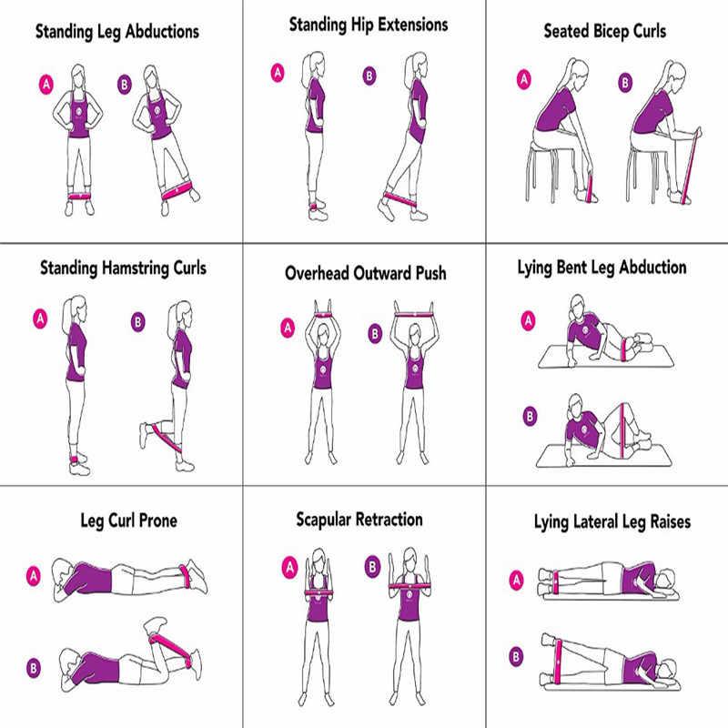 Tập Thể Hình Kẹo Cao Su Tập Gym Cường Lực Chống Ban Nhạc Pilates Thể Thao Cao Su Thể Hình Ban Nhạc Crossfit Tập Luyện Thiết Bị