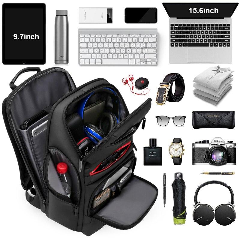 Mark Ryden мужской рюкзак подходит для 17 дюймов ноутбука USB зарядка многослойная космическая дорожная сумка бизнес мужская Противоугонная сумк... - 4
