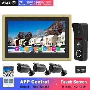 Image 1 - Diagonsview Wifi Video Intercom IP Wireless Video Door Phone for Home Security System  10 inch Touch Screen  1080P Door Intercom