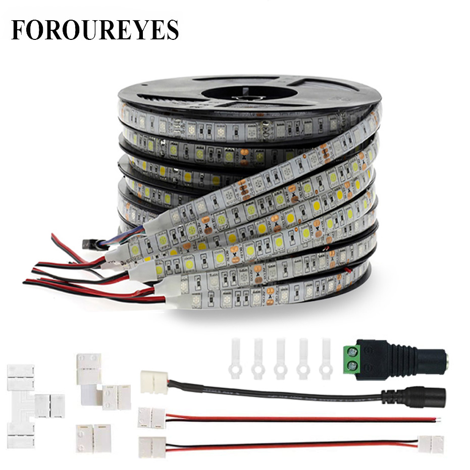 Hot Sale 5m 12V LED Strip 60LEDS M SMD5050 Waterproof Flexible DIY Indoor Lighting Accessories Waterproof LED Strips