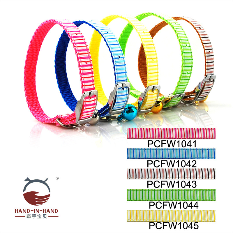 Hand-in-hand Pet Supplies Pet Collar Dogs And Cats Pet Bell Neck Ring Collar Stripes Snowflake LOVE Neck Band
