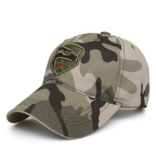 купить Popular camouflage green baseball cap for men and women, fashionable cotton embroidered duck tongue cap, five-star outdoor climb по цене 306.23 рублей