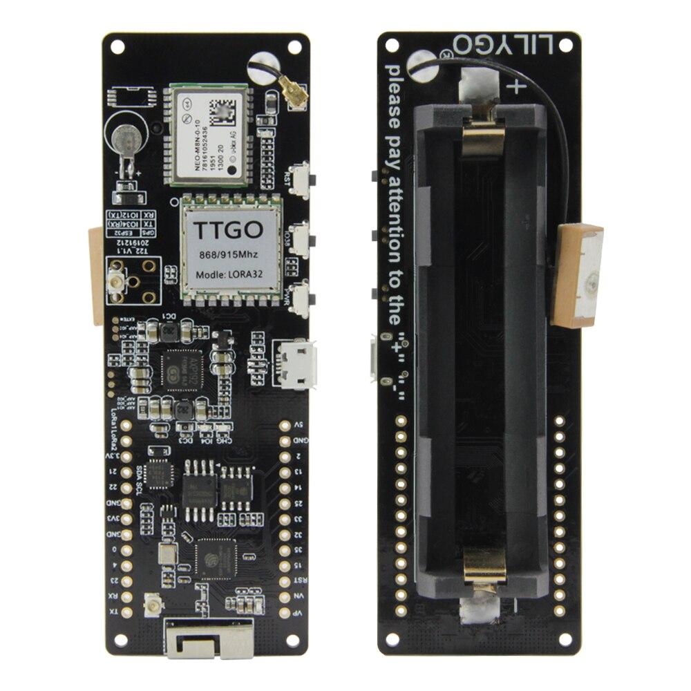 Gps NEO-M8N de lilygo®Ttgo t-beam v1.1 esp32 lora 433/868/915/923mhz wifi sem fio bluetooth módulo ipex 18650 suporte de bateria