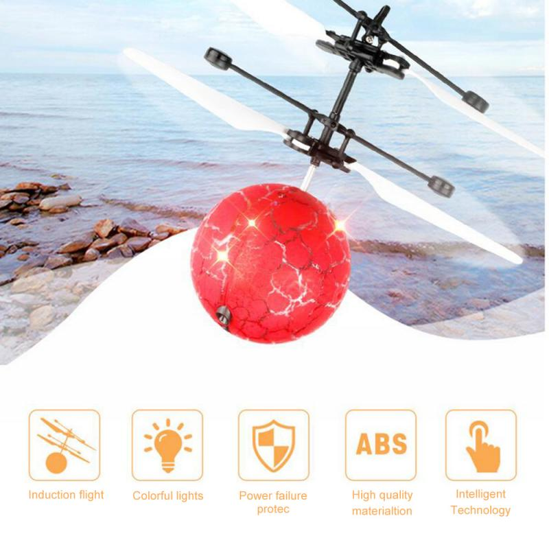 Luminous Toy Flying RC Ball Fly Ball LED Light Aircraft Helicopter Induction LED Light Toys Drone Birthday Gifts Drop Shipping