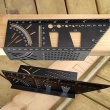Czarny aluminiowy/plastikowy szablon do znakowania jaskółczego ogona pionowy kąt kalibracji praktyczny przewodnik Marker narzędzie do drewna