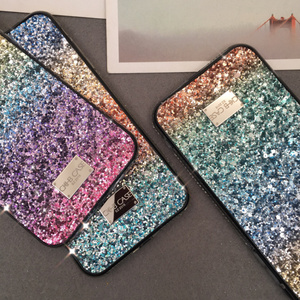 Image 2 - 10pcs/lot Women Luxury Gift Phone Back Case for iphone 6 6s 7 8 Plus 11 Pro Max 11Pro Color Gradual Glitter Hard Case MYL 67K