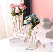 Геометрическая ваза роскошный светильник металл железное искусство