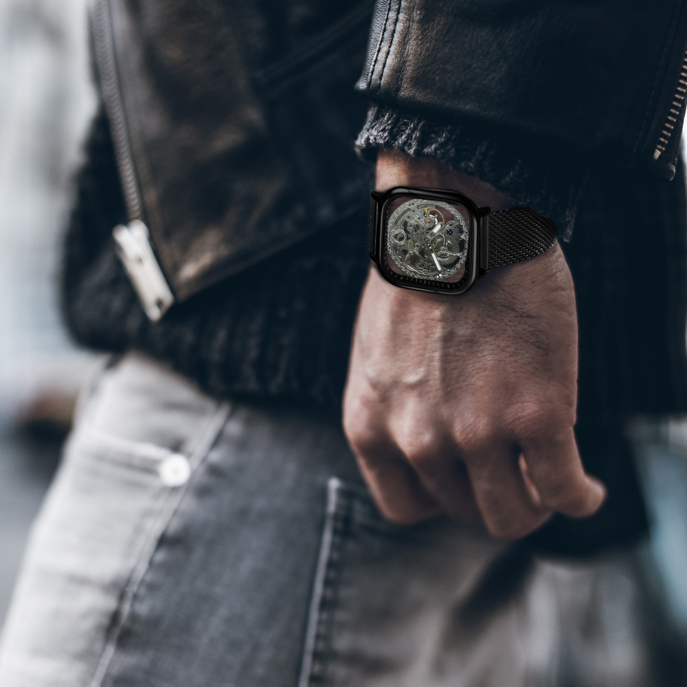 He9d1e0057c6f468b888871d5e181d1cdV FORSINING Top Brand Luxury Unisex Watch Men Auto Mechanical Hollow Dial Magnet Strap Fashion Royal Wristwatch HIP HOP Male Clock