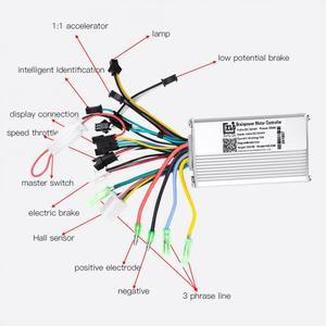 Image 5 - 24/36/48/60v 350/450/500/1000w e bike controlador sem escova display lcd painel polegar acelerador elétrico bicicleta scooter controlador