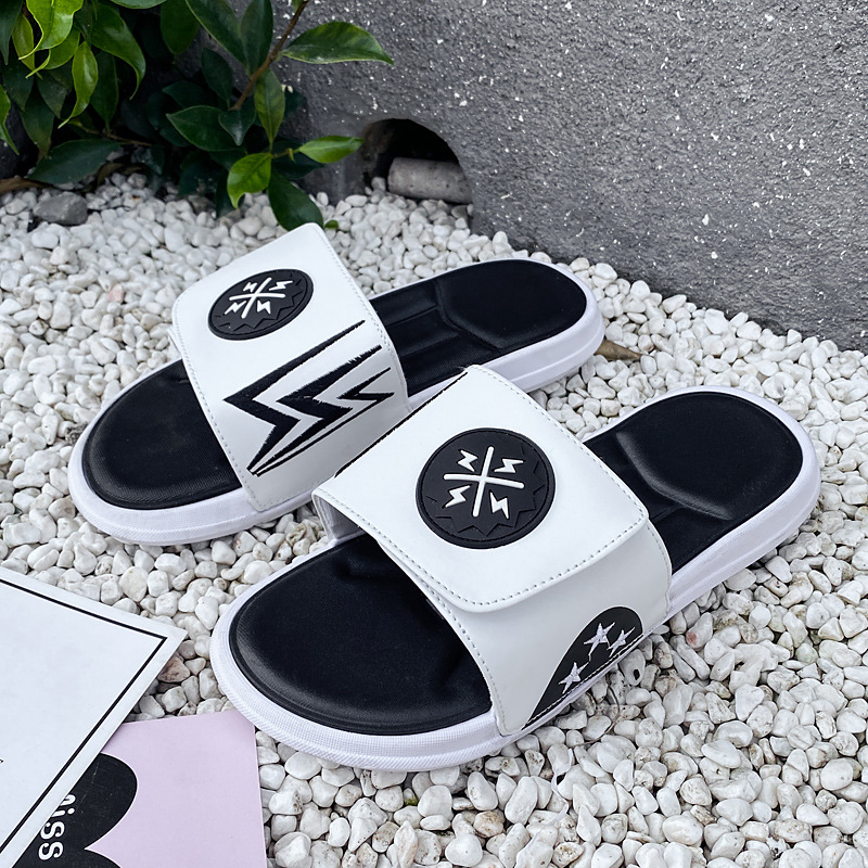 2020 trend slides for men Summer Flip Flops Slippers Men Outdoor Beach Shoes Classic Men's Sandals Summer Soft Sandals white