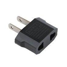 Универсальный адаптер питания для ЕС и США, адаптер для путешествий, Черный дорожный настенный адаптер для зарядного устройства