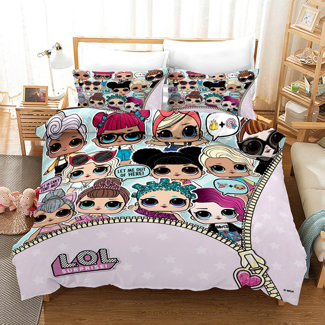 bedding for boys and girls LOL Surprise Children Home textiles bedding set with various motifs from TV series