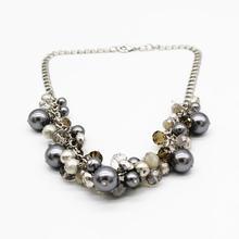 Женское Ожерелье Из Жемчужного стекла и хрустальных бусин
