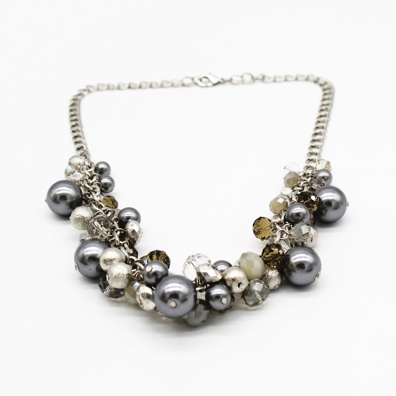 Pearl glass crystal beads necklace exquisite fashion necklace for women