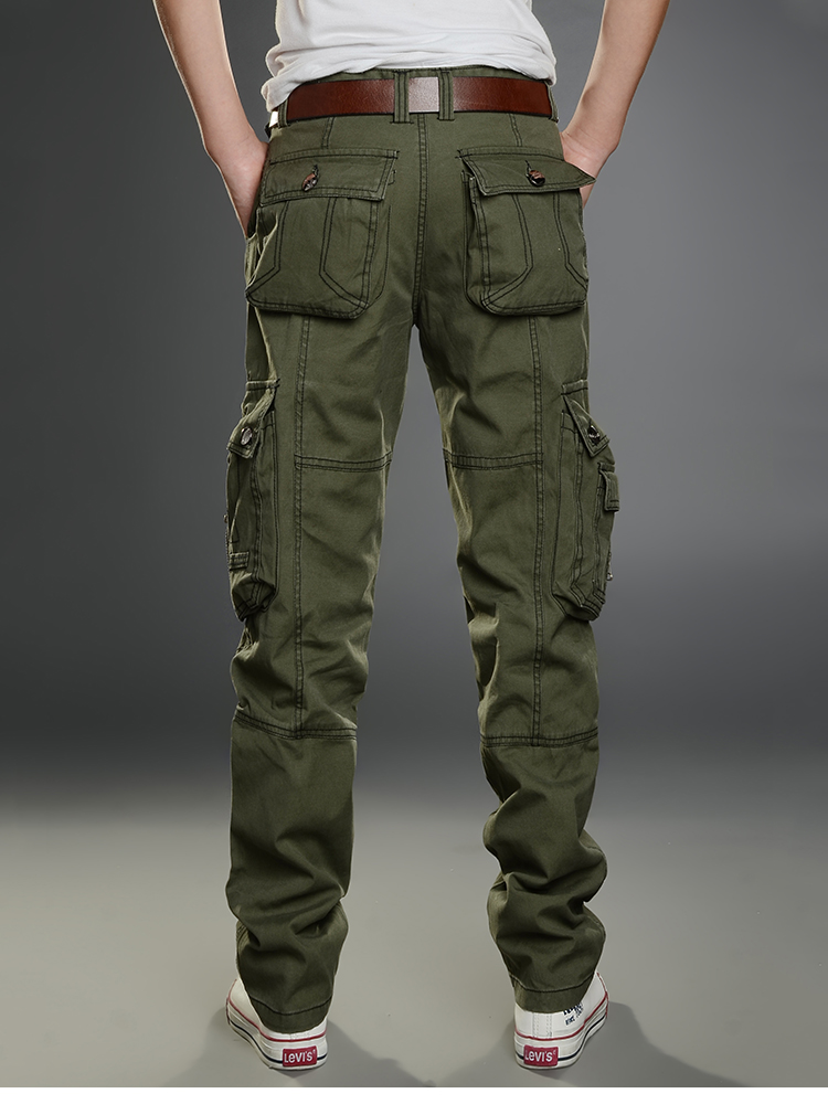 KSTUN New Cargo Pants for Men Baggy Casual Pants Male Overalls Full Length Trousers Loose Straight Cut Pants Zippers Pockets Desinger 22
