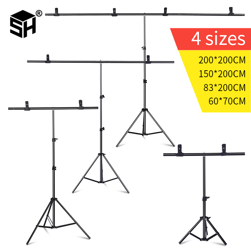 Background Frame Photography Backdrop T-shaped Background Support Stand System Metal backgrounds for photo studio Multiple sizes(China)
