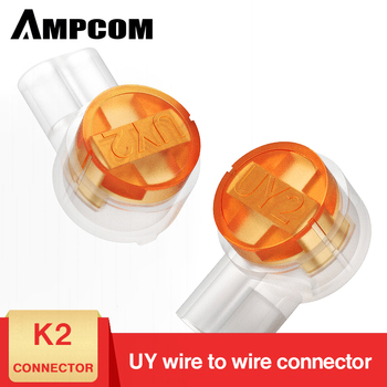 AMPCOM 100PCS Rj45 Connector Crimp Connection Terminals K2 Connector Waterproof Connectors K2 Network Cable Terminals цена 2017