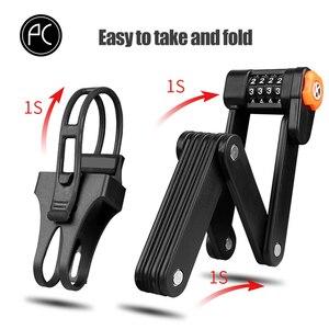 Image 4 - PCycling 자전거 자물쇠 합금 강철 접히는 자물쇠 MTB 도로 자전거 자물쇠 도난 방지 자물쇠 암호 자물쇠 안전 사이클링 부속품