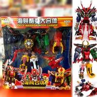 変換ロボット Megazords 組み立て変形モデルのおもちゃ Kaizouku 戦隊 Gokaiger