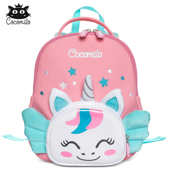 Cocomilo 3D Cartoon Unicorn Kids School Bag Kawaii Soft Pink Cute Kindergarten Backpack Toddler Baby Children Gift - discount item  53% OFF School Bags