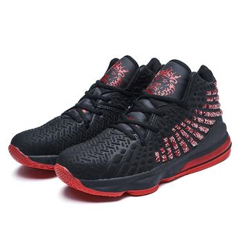 Koszykówka Unisex buty męskie sportowe sportowe poduszki powietrzne Hombre Athletic męskie buty damskie wygodne oddychające sneakersy 2020 tanie i dobre opinie vinsinw CN (pochodzenie) Średnie (b m) Wysokiej RUBBER Na płótnie Formotion Lace-up Spring2019 Pasuje prawda na wymiar weź swój normalny rozmiar