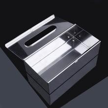 Элегантный домашний Спальня квадратный автомобиль Нержавеющая сталь салфетница бумажная салфетка ящик для хранения бумажный контейнер крышка Полотенца служебного отеля