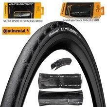Continental ultra sport iii pneu de estrada, grandsport corrida e extra 700 23c 25c28c, pneu de bicicleta de estrada, cascalho dobrável pneu