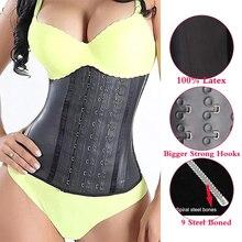 Corset Shapewear Girdle Waist-Trainer Latex Slimming Women Sheath Belly Tummy-Control